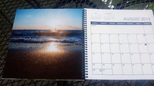 2015 Desktop Calendar- August.  Lewes, Delaware