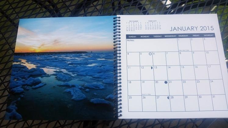 2015 Desktop Calendar- January