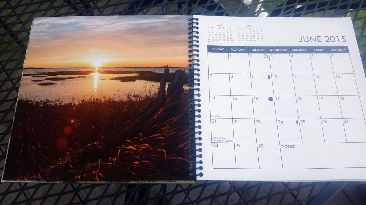 2015 Desktop Calendar- June.  Sinepuxent Bay, Maryland
