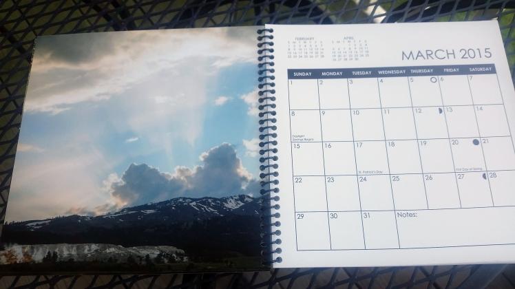 2015 Desktop Calendar- March
