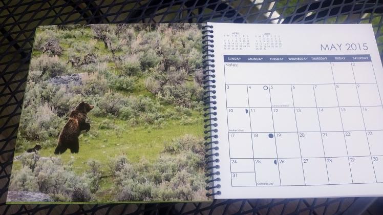 2015 Desktop Calendar- April