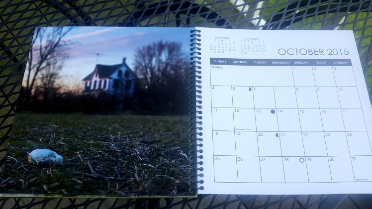 2015 Desktop Calendar- October.  Eastern Shore of Maryland