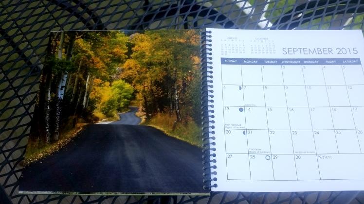 2015 Desktop Calendar- September.  Rocky Mountain National Park, Colorado